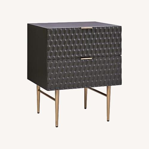 Used West Elm Audrey Nightstand in Charcoal for sale on AptDeco