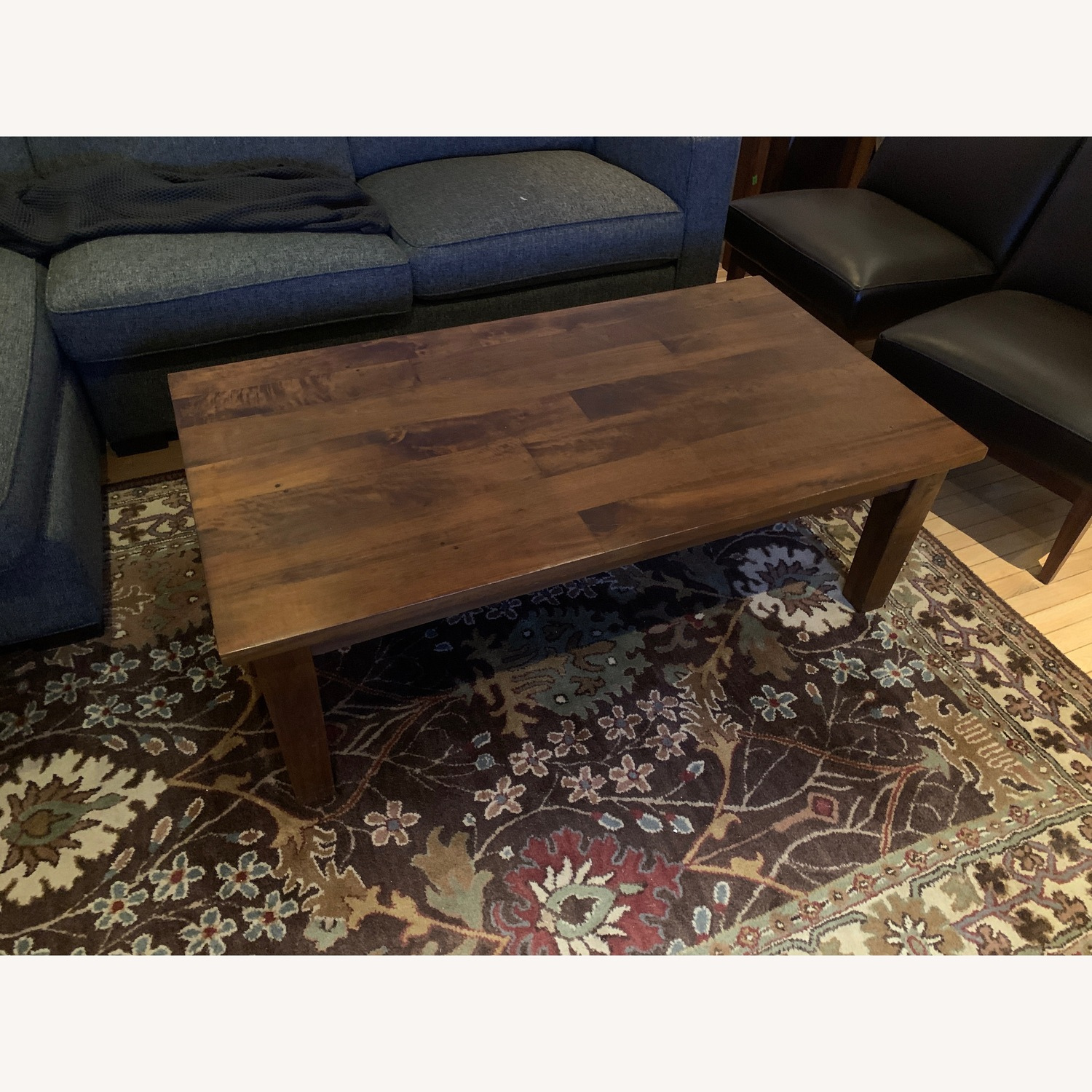 Crate & Barrel Solid Wood Coffee Table