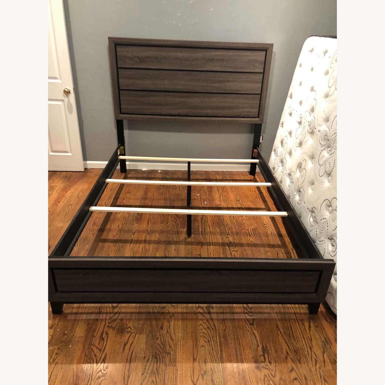 Queen Size Grey Bed