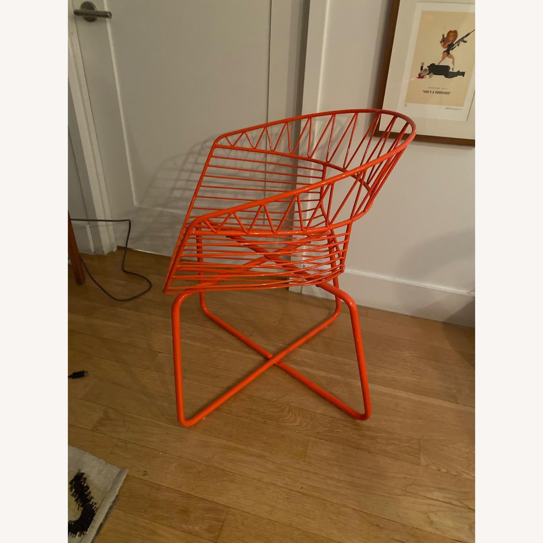 West Elm Orange Bistro Chairs