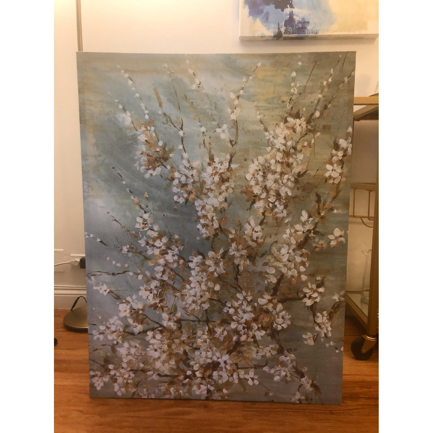 Green Floral Canvas Painting