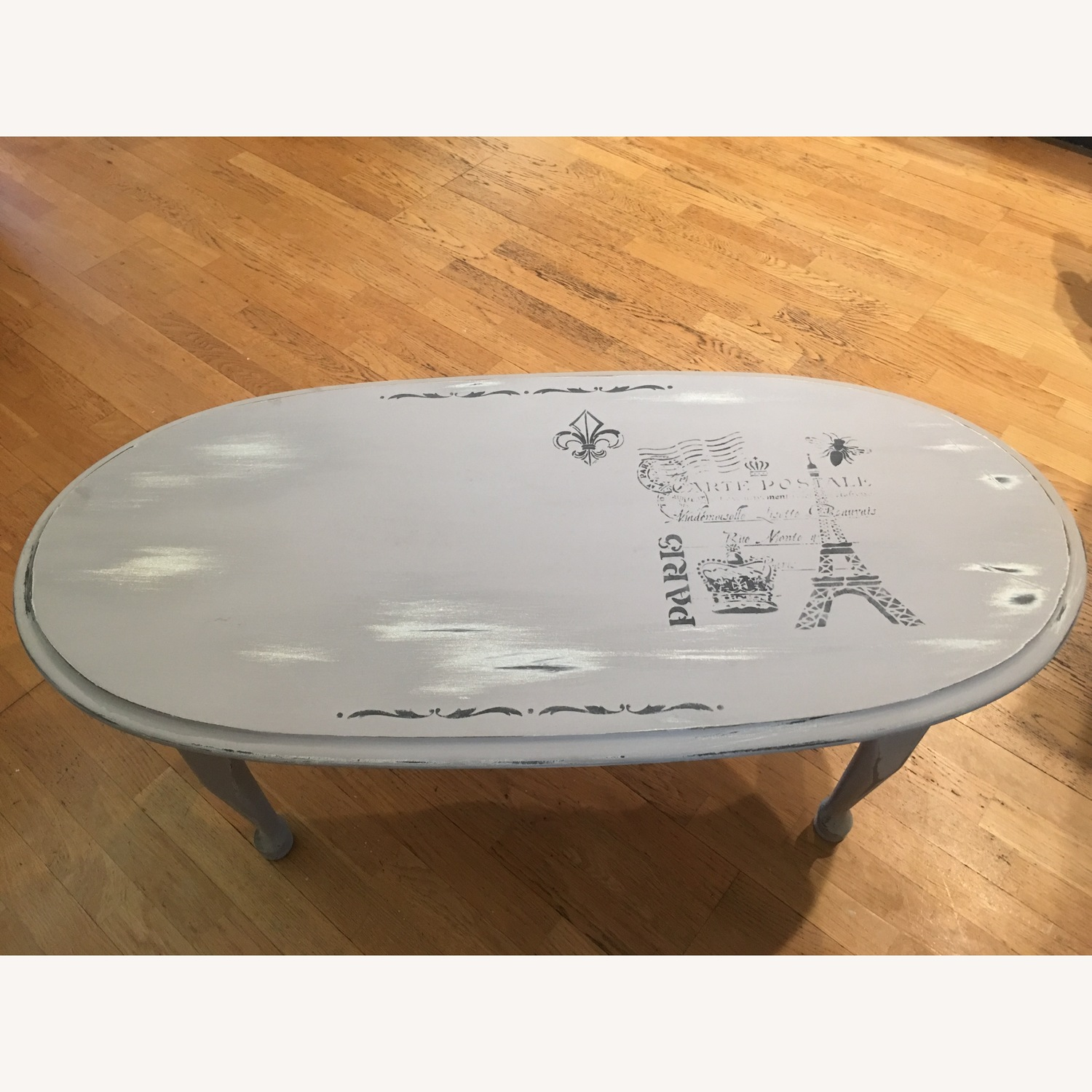 Grey French Distressed Coffee Table
