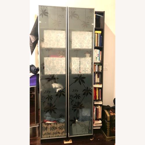 Used IKEA Espressso Tower with Glass Door for sale on AptDeco