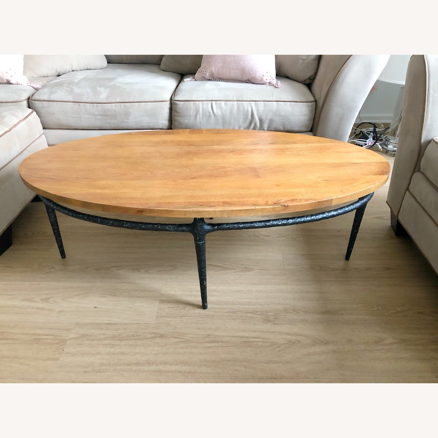 West Elm Wood and Iron Coffee Table