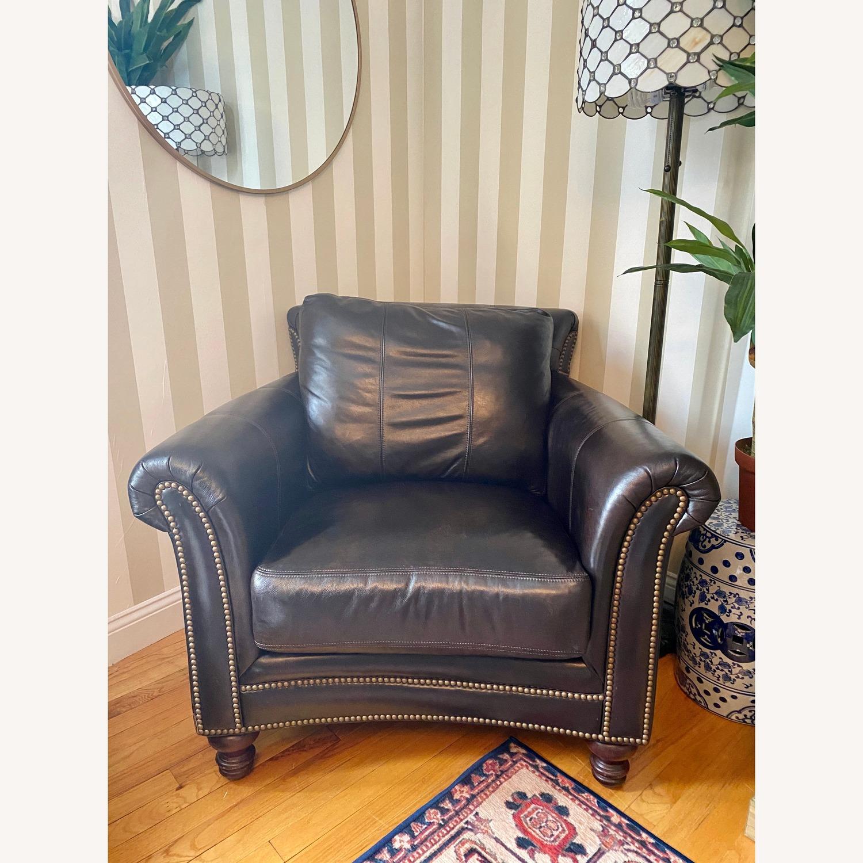 Bradington Young Leather Nailhead Armchair