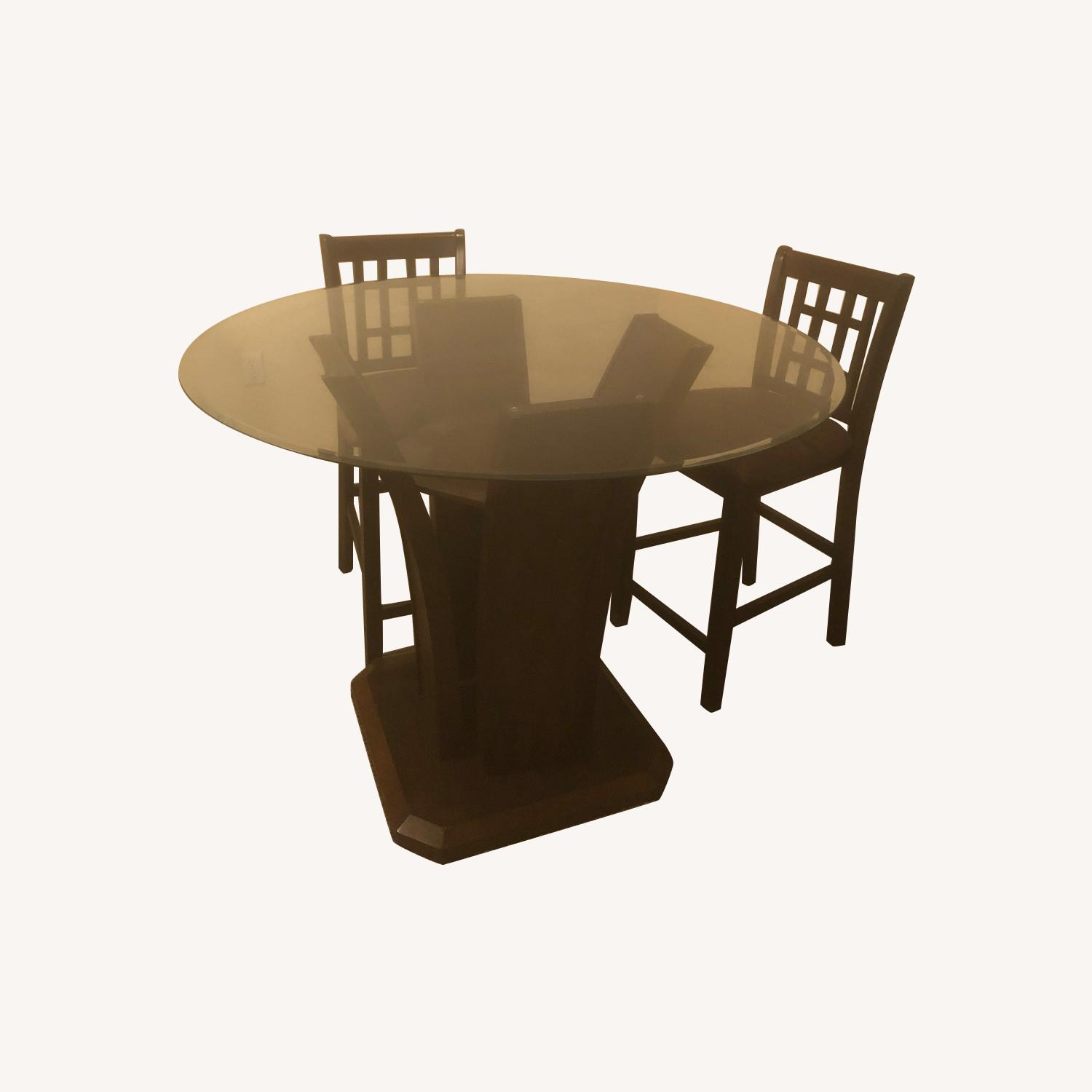 Beautiful Wooden Stand Dining Set