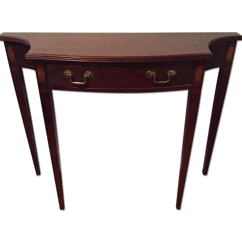 Dark Wood Entryway Table