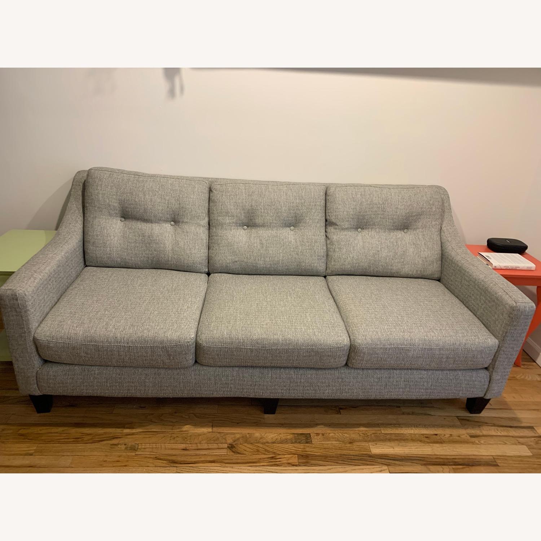 Raymour & Flanigan Light Gray 3-Seater Sofa