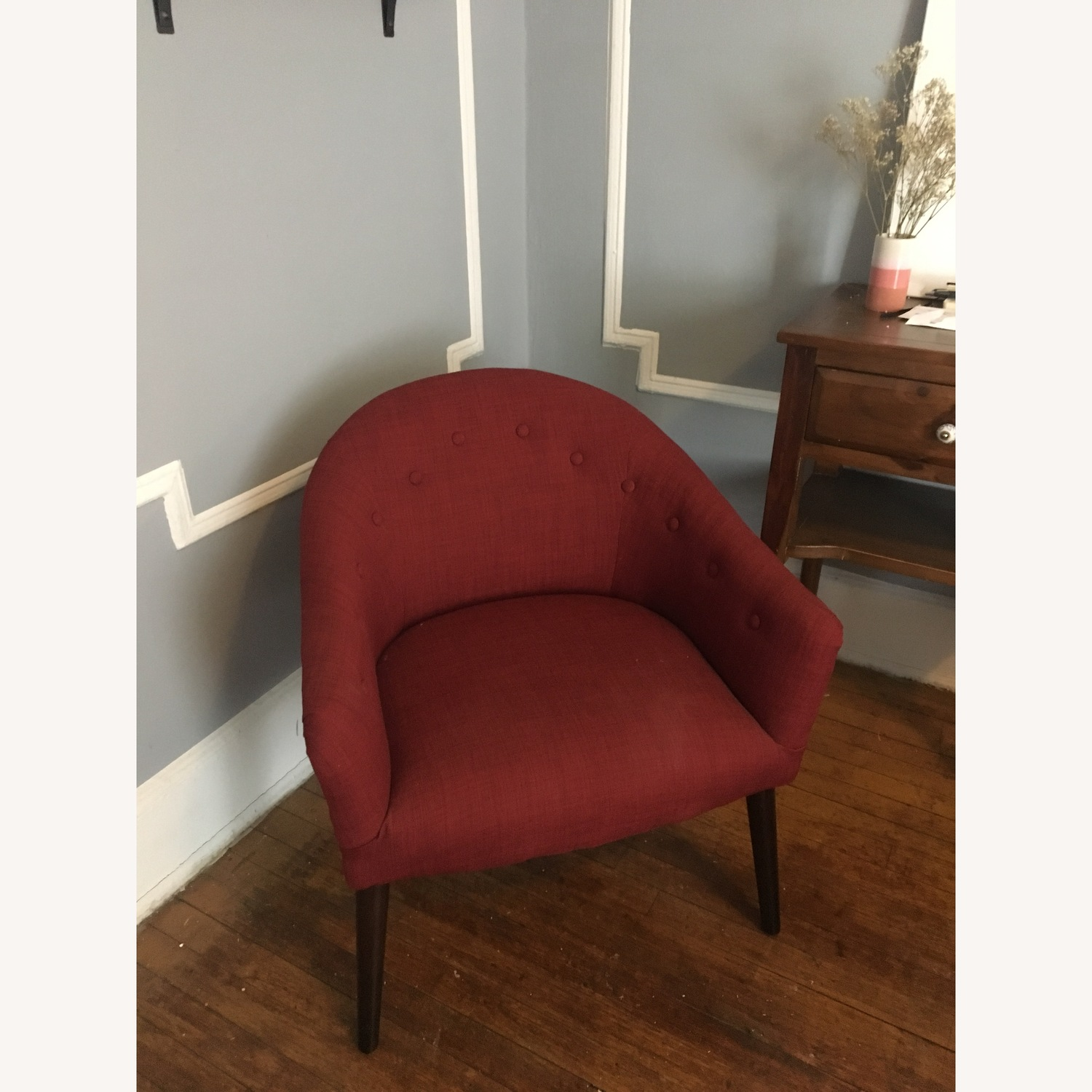 Cozy Red Armchair