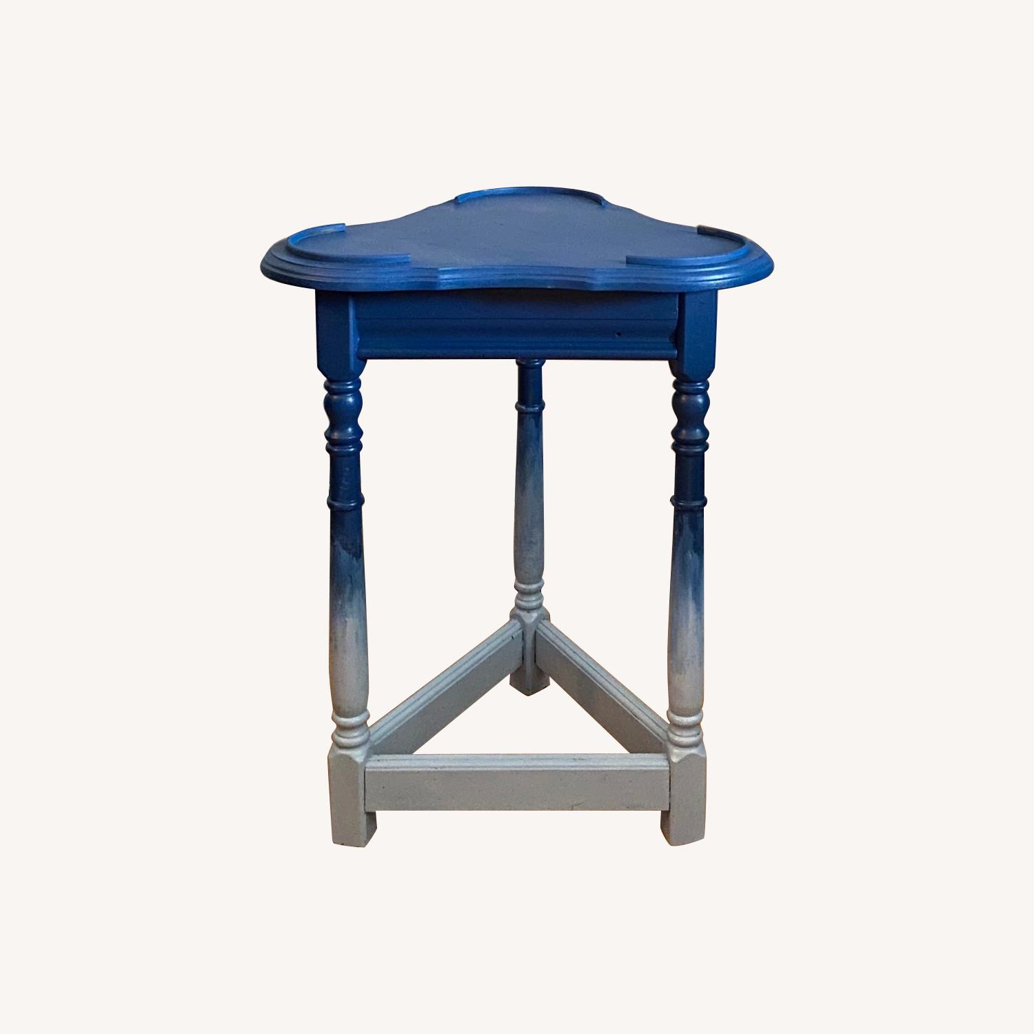 Blue Ombre Small Table/Plant Stand - image-0