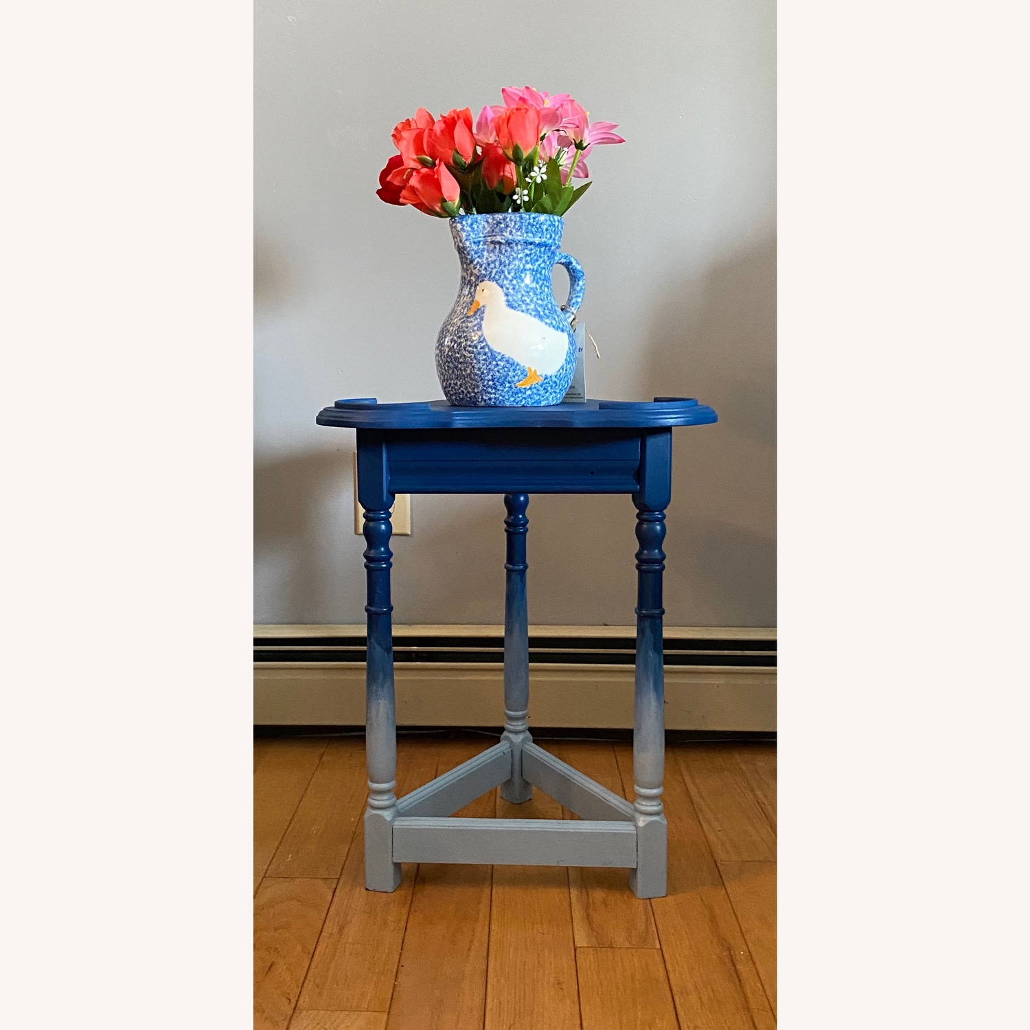 Blue Ombre Small Table/Plant Stand - image-8