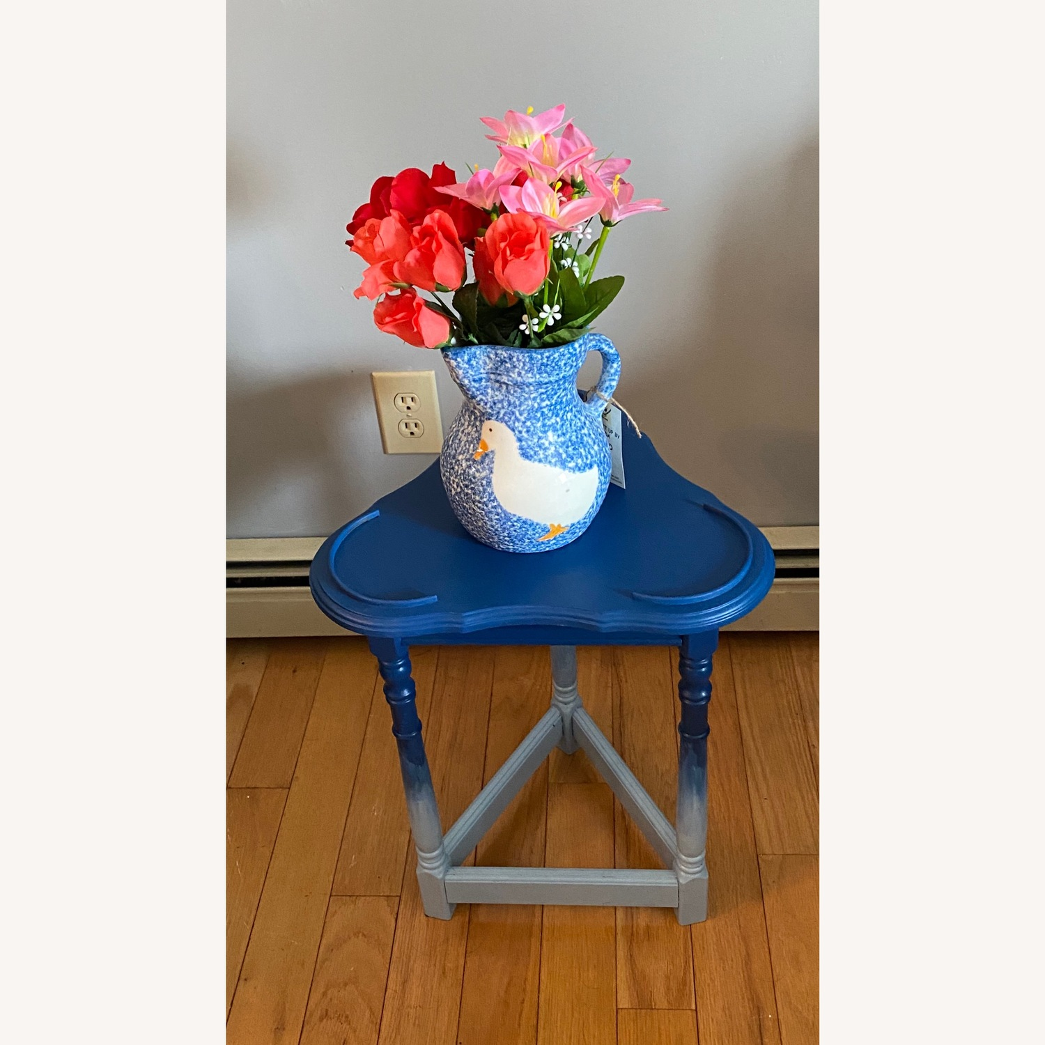 Blue Ombre Small Table/Plant Stand - image-6