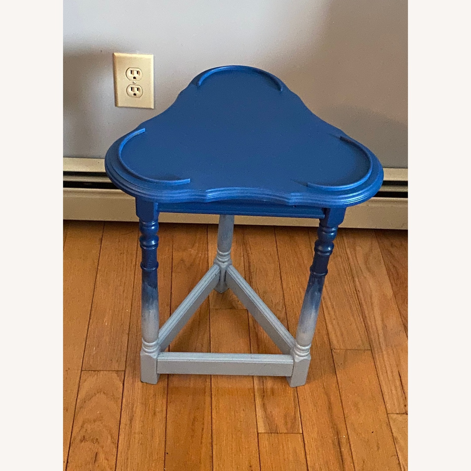 Blue Ombre Small Table/Plant Stand - image-7