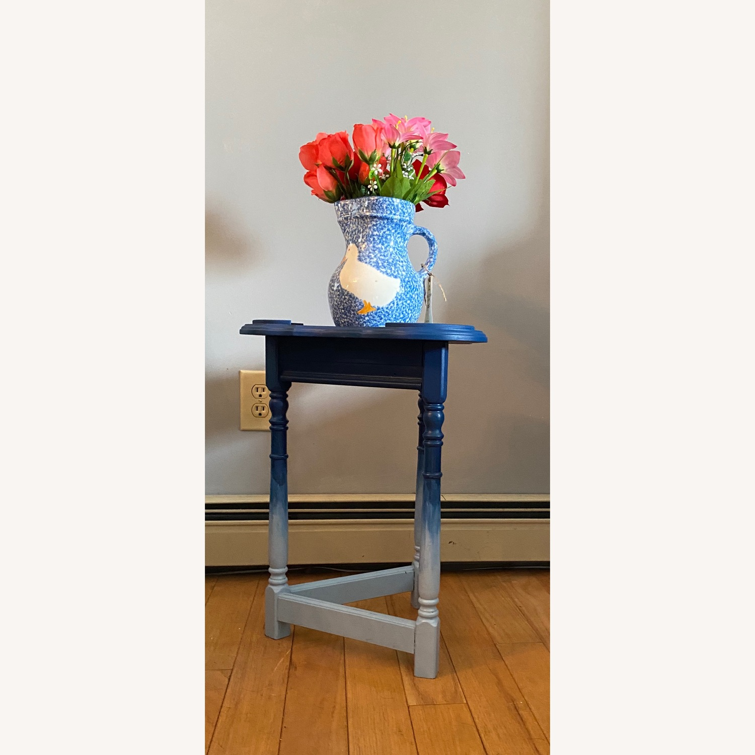 Blue Ombre Small Table/Plant Stand - image-2