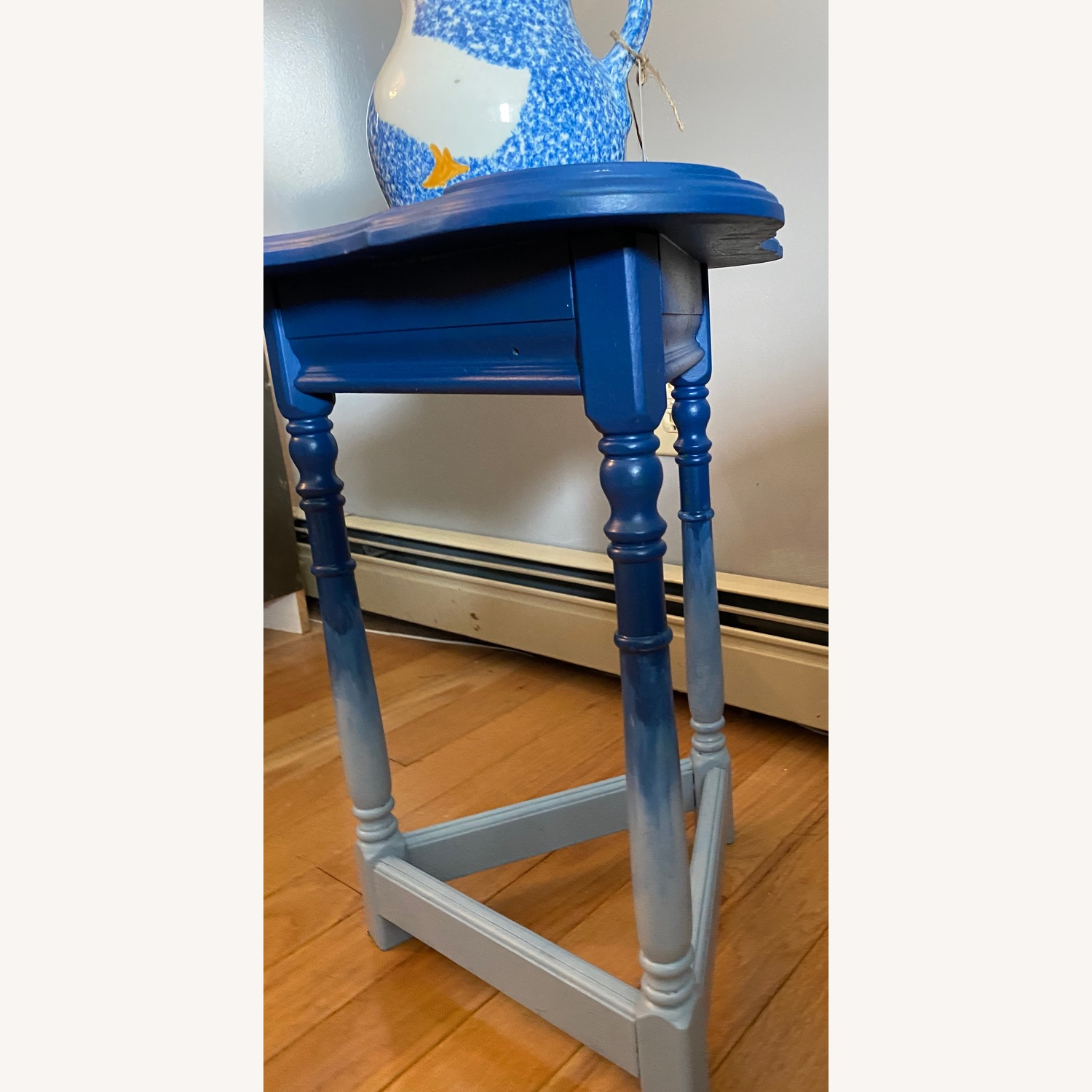 Blue Ombre Small Table/Plant Stand - image-9
