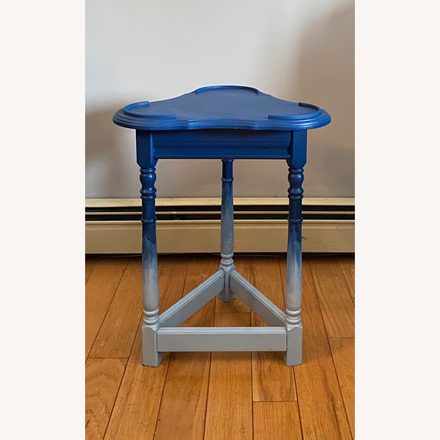 Blue Ombre Small Table/Plant Stand - image-4