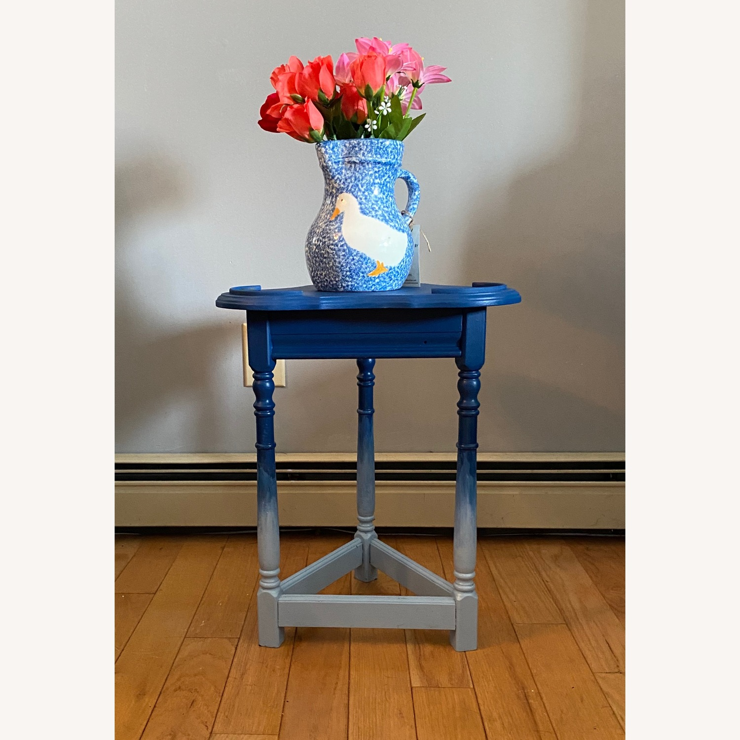Blue Ombre Small Table/Plant Stand - image-5