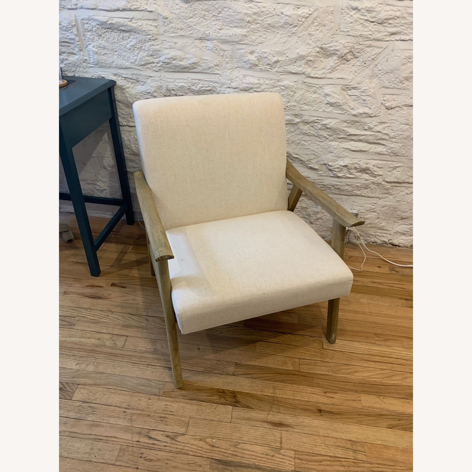 Foundstone Off-White Linen Accent Chair