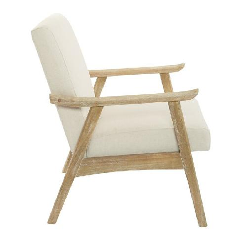 Used Foundstone Off-White Linen Accent Chair for sale on AptDeco