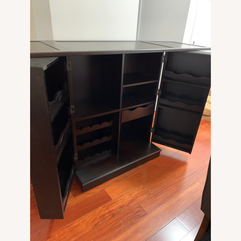 Raymour & Flanigan Flip-top Bar Cabinet