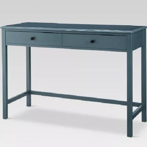 Used Target Blue / Navy Desk w/ Large Drawer for sale on AptDeco