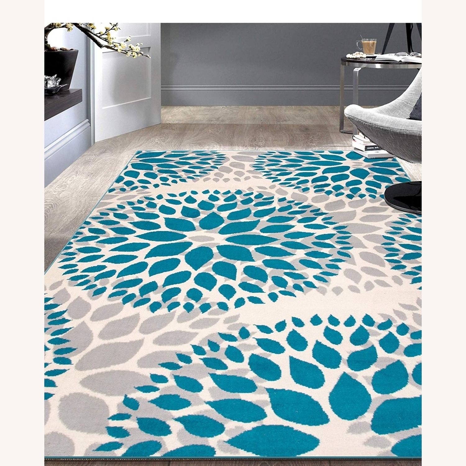 Safavieh Gray and Teal Area Rug - image-1