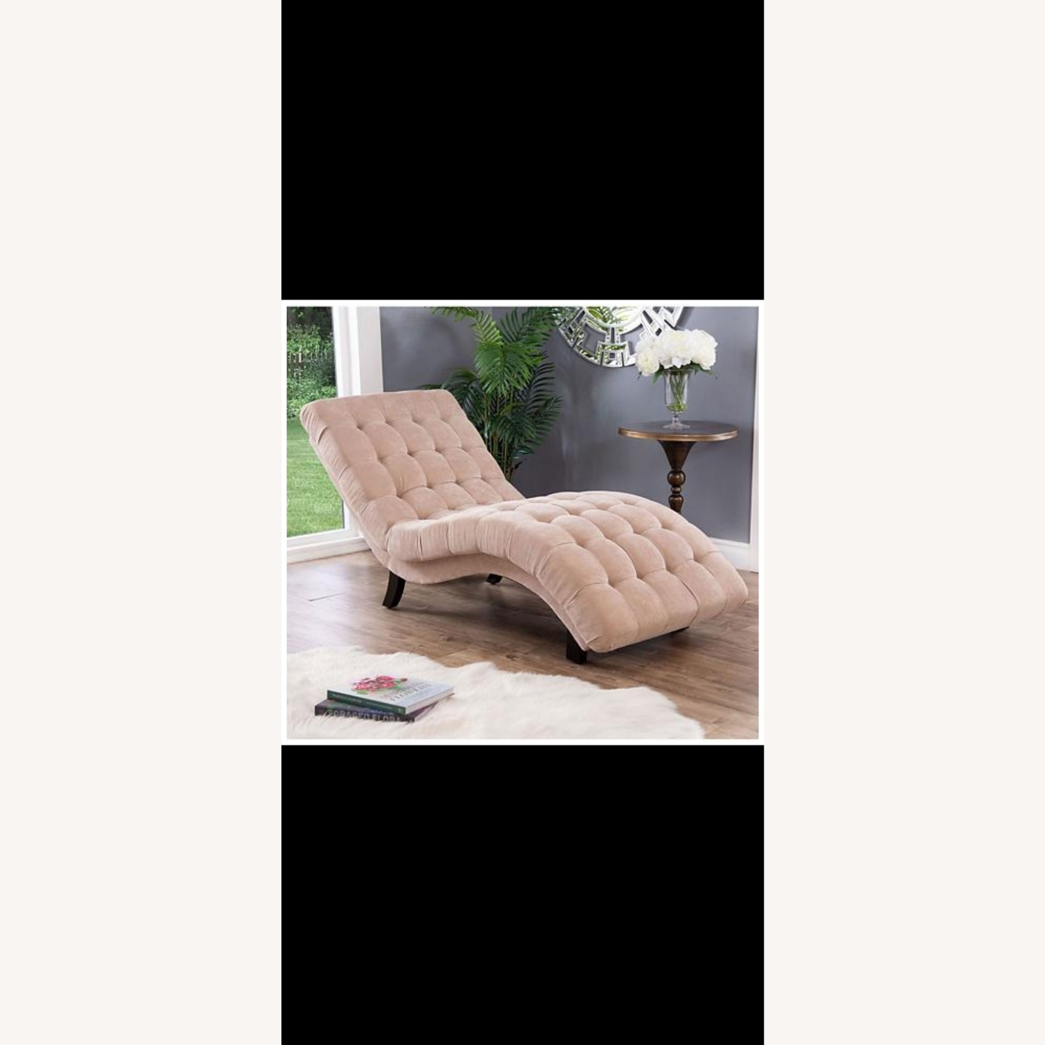 Abbyson Living Upholstered Chaise Lounge
