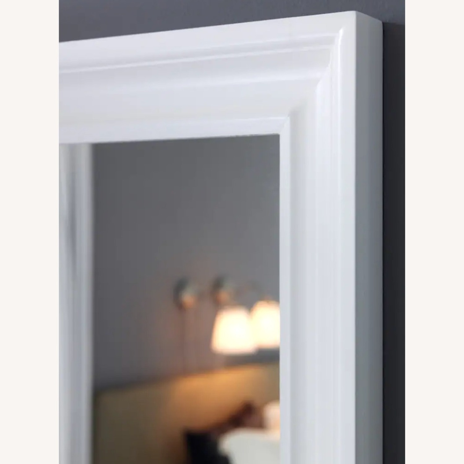 IKEA White Beveled Mirror
