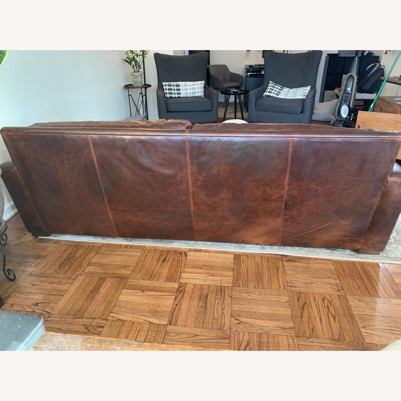 Restoration Hardware Leather Maxwell Sofa