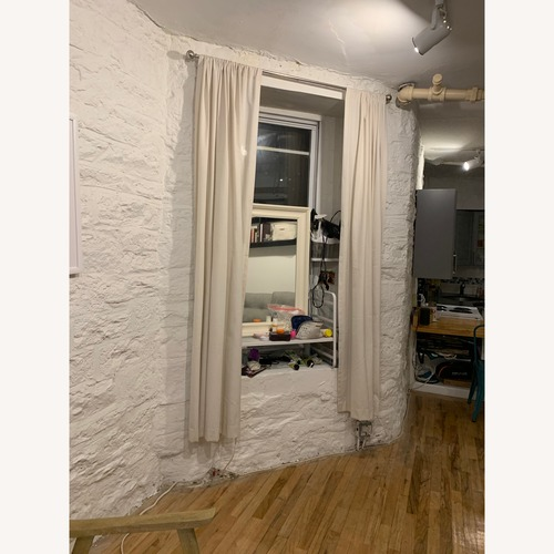 Used Off-White Linen Curtains for sale on AptDeco