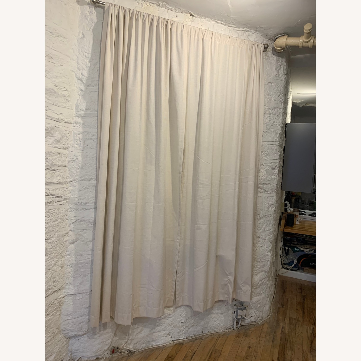 Off-White Linen Curtains