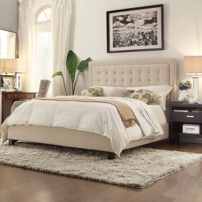 Kingstown Home Beige Upholstered Standard Bed