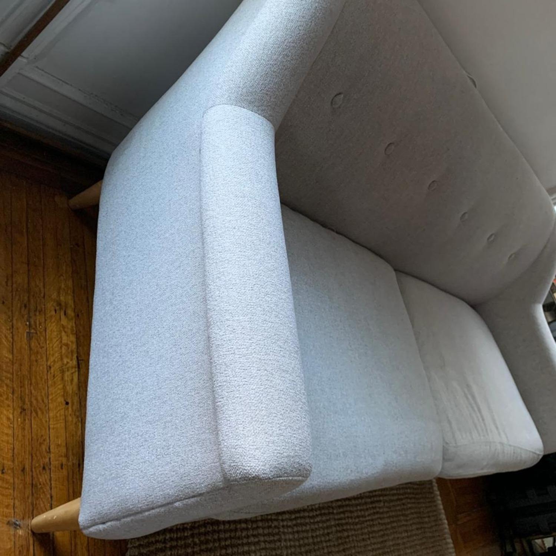 West Elm Finn Frost Grey Sofa