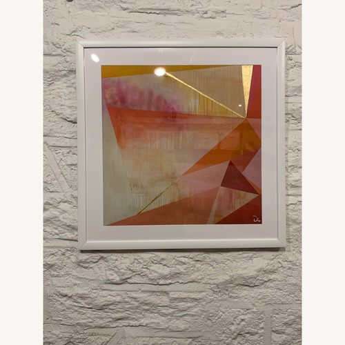 Used Modern Art w/ White Frame, Geometric Style for sale on AptDeco