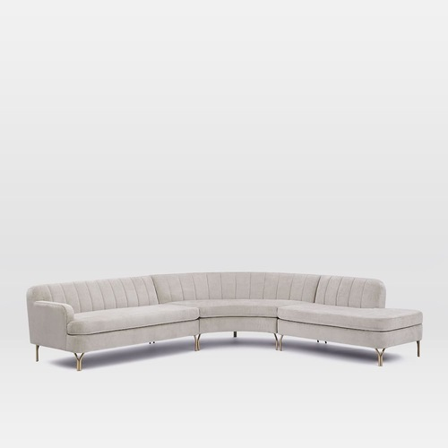 Used West Elm Valencia 3-piece Sectional Couch for sale on AptDeco