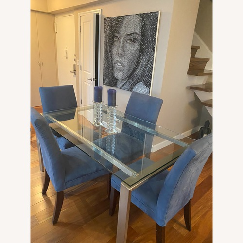Used 4 Custom Made Upholstered Dining Chairs for sale on AptDeco