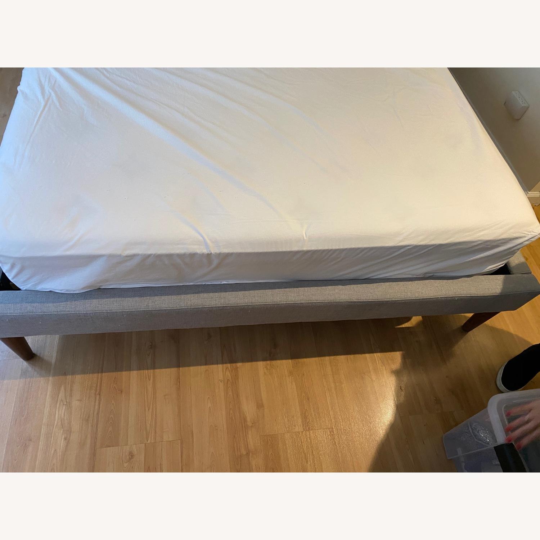 West Elm Tufted Queen Bed Frame