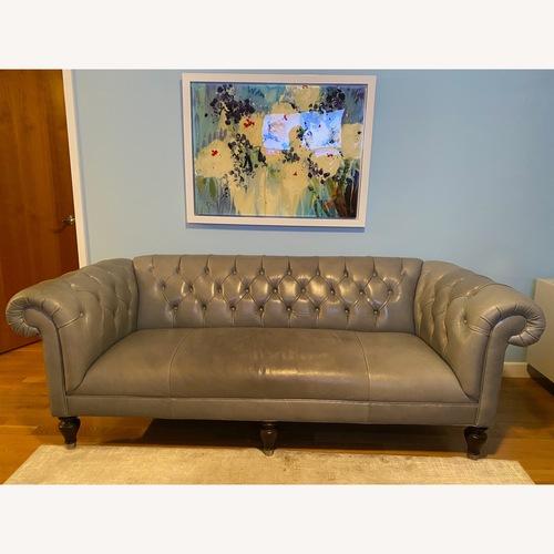 Used Mitchell Gold + Bob Williams Tufted Leather Addison Sofa for sale on AptDeco