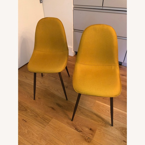 Used Target Set of Two Beautiful Yellow Dining Chairs for sale on AptDeco