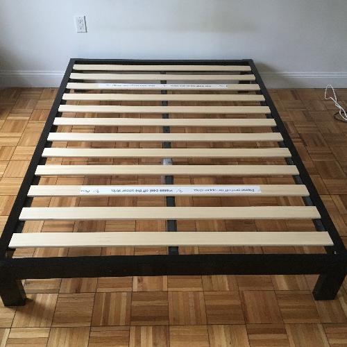 Used Black Metal Frame Bed for sale on AptDeco