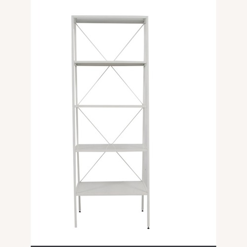 Used CB2 White Metal Bookcase for sale on AptDeco