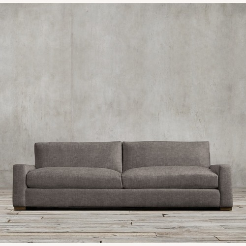 Used Restoration Hardware Maxwell Charcoal Belgian Linen Sofa for sale on AptDeco