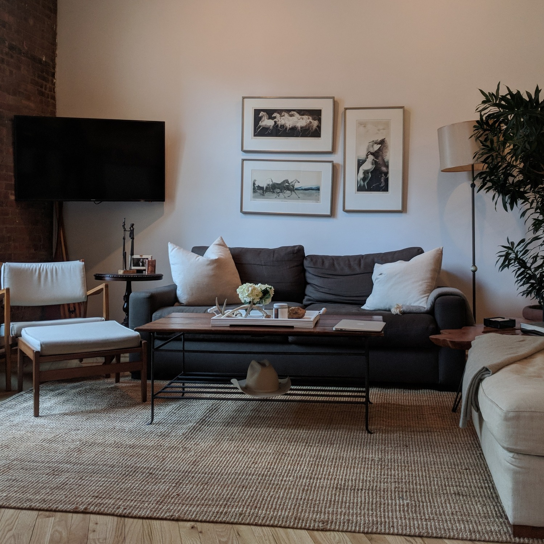 Restoration Hardware Maxwell Charcoal Belgian Linen Sofa - image-1