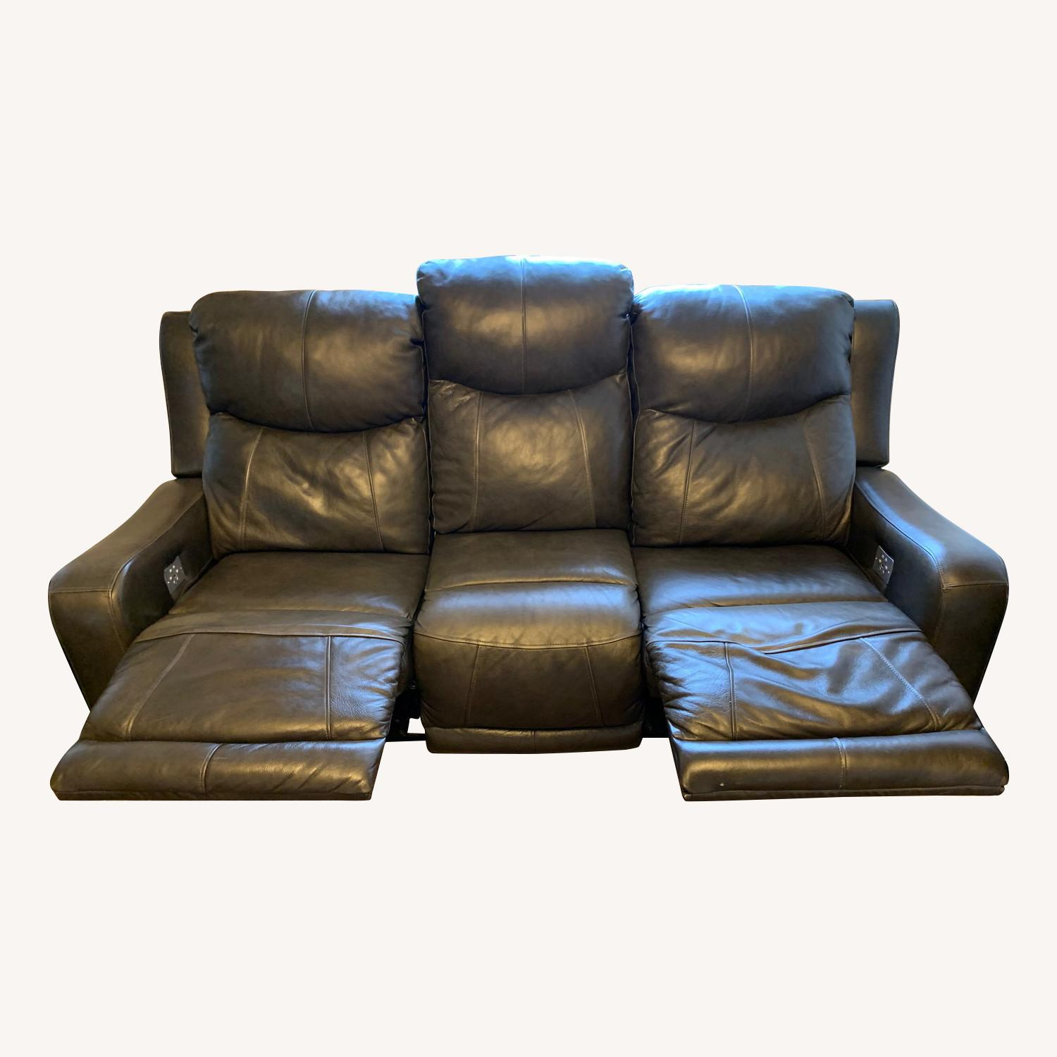 Raymour & Flanigan Leather Electric Recliner