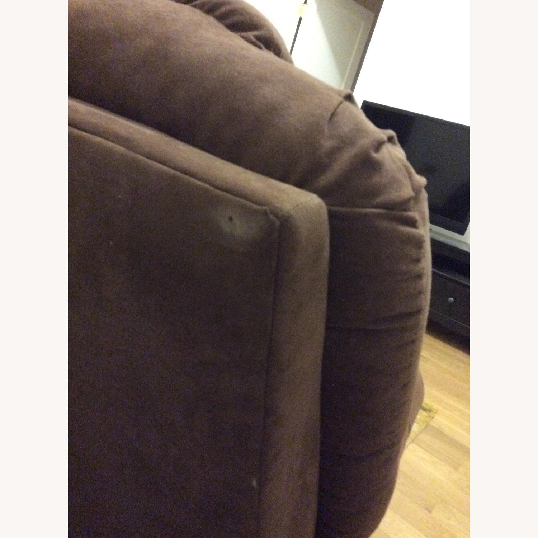 Brown Microfiber Recliner Sofa - image-4