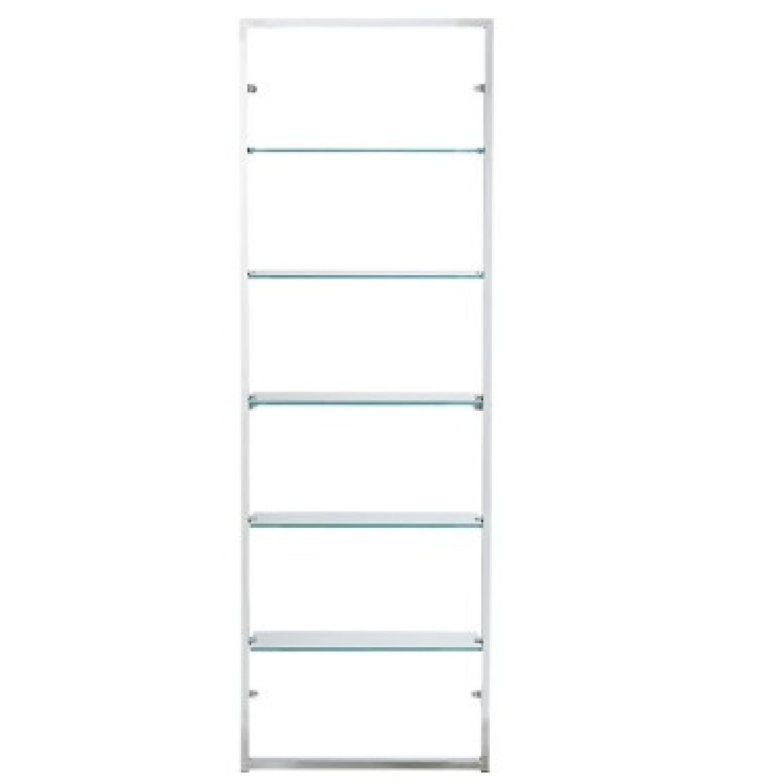 CB2 Tesso Chrome Bookcase - image-0