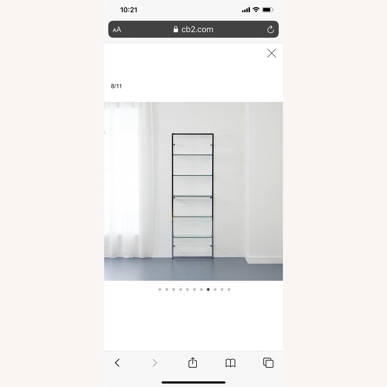CB2 Tesso Chrome Bookcase - image-1