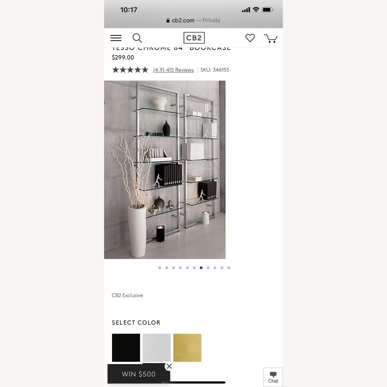 CB2 Tesso Chrome Bookcase - image-3
