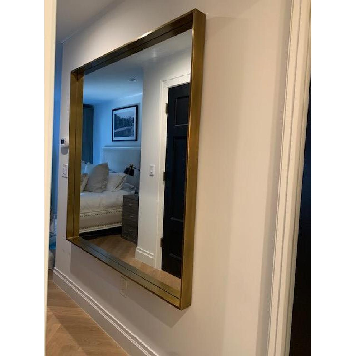 Restoration Hardware Brass Metal Dovetail Mirror