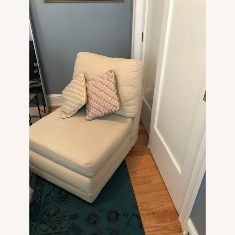 Crate & Barrel Lounge II Armless Chair - image-1